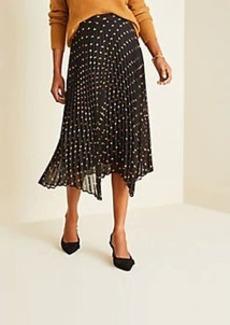 Ann Taylor Geo Pleated Full Skirt