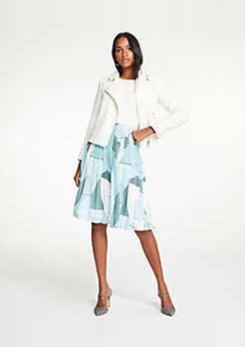 Ann Taylor Geo Pleated Skirt