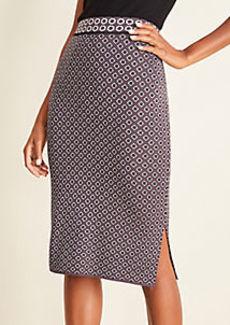 Ann Taylor Geo Sweater Pencil Skirt