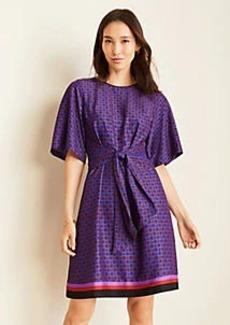 Ann Taylor Geo Tie Front T-Shirt Dress
