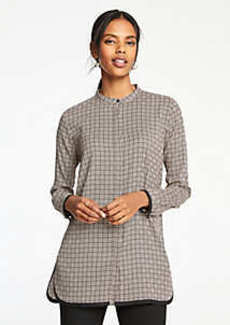 Ann Taylor Geo Tipped Tunic Blouse