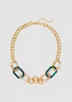 Ann Taylor Geo Tortoiseshell Link Necklace