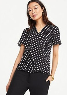 Ann Taylor Geo Wrap Front Tee
