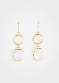 Ann Taylor Geometric Crystal Drop Earrings