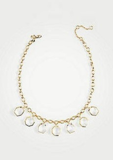 Ann Taylor Geometric Crystal Statement Necklace