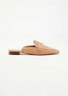 Ann Taylor Geraldine Suede Loafer Slides