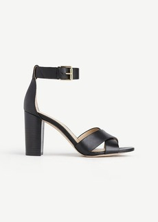 Gigi Leather Block Heel Sandals