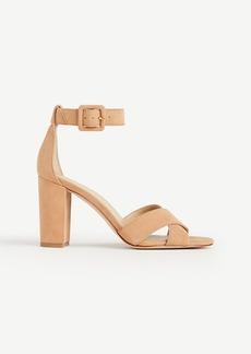 Gigi Suede Block Heel Sandals