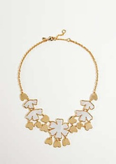 Ann Taylor Gingko Flower Statement Necklace