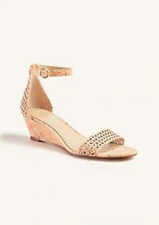 Ann Taylor Giuliana Perforated Cork Wedge Sandals