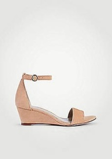 Ann Taylor Giuliana Suede Wedge Sandals