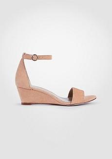 Ann Taylor Giuliana Suede Wedge Sandals