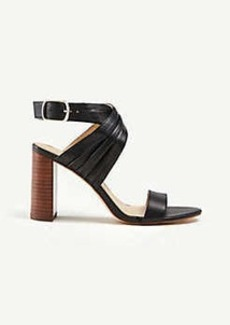 Ann Taylor Gladys Leather Heeled Sandals