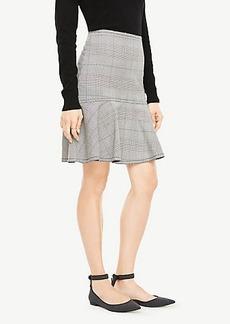 Ann Taylor Glen Plaid Flounce Skirt