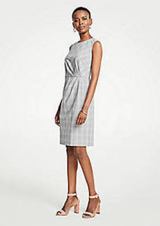 Ann Taylor Glen Plaid Ruched Sheath Dress
