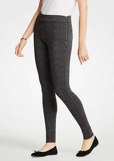 Ann Taylor Glen Plaid Side Zip Leggings