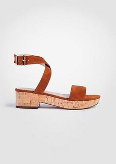 Ann Taylor Glenna Suede Platform Sandals