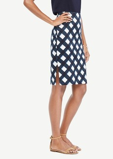 Ann Taylor Graphic Gingham Pencil Skirt