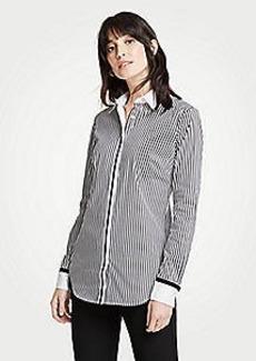 Ann Taylor Grosgrain Striped Perfect Shirt