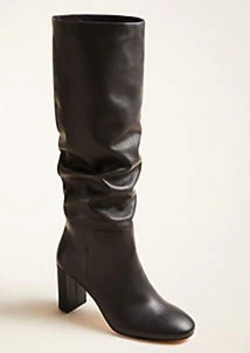Ann Taylor Guinevere Slouchy Block Heel Boots