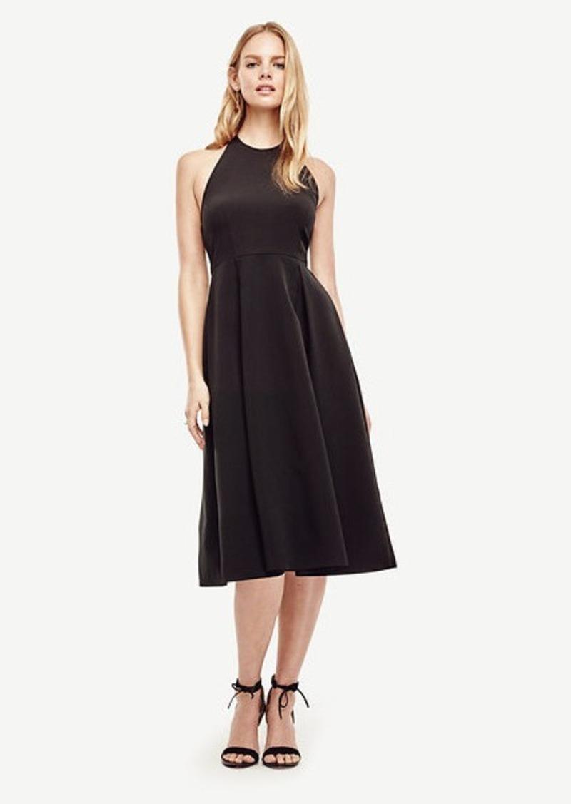 Ann Taylor Halter Flare Dress