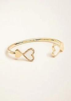 Ann Taylor Heart Cuff Bracelet