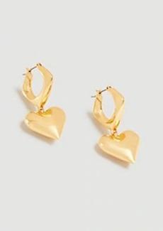 Ann Taylor Heart Drop Earrings