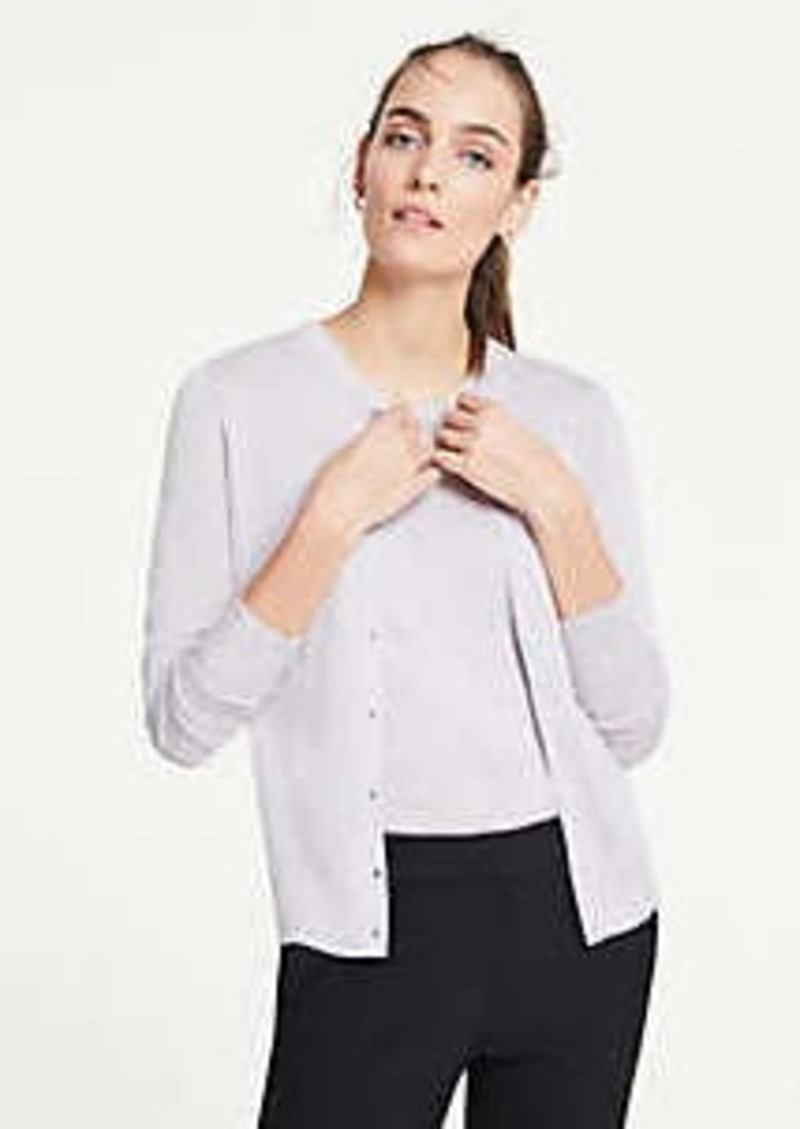 Ann Taylor Heathered Ann Cardigan