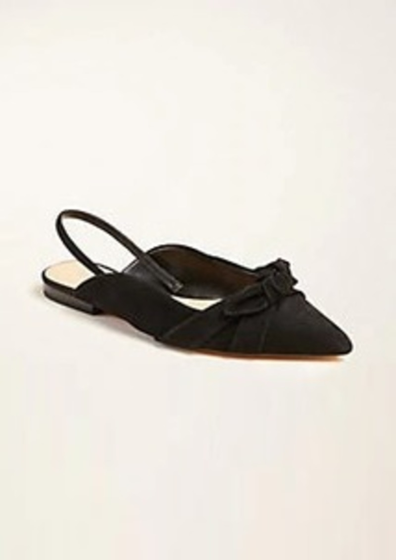 Ann Taylor Hermione Suede Bow Slingback Flats