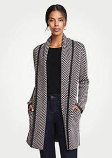 Ann Taylor Herringbone Coatigan