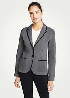 Ann Taylor Herringbone Two Button Sweater Blazer