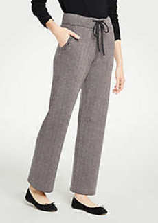 Ann Taylor Herringbone Wide Leg Pants