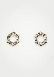 Ann Taylor Hexagon Pave Stud Earrings