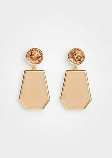 Ann Taylor Hexagon Stone Drops