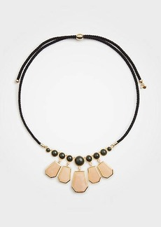 Ann Taylor Hexagon Stone Statement Necklace