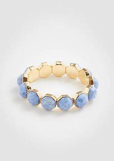 Ann Taylor Hexagon Stone Stretch Bracelet