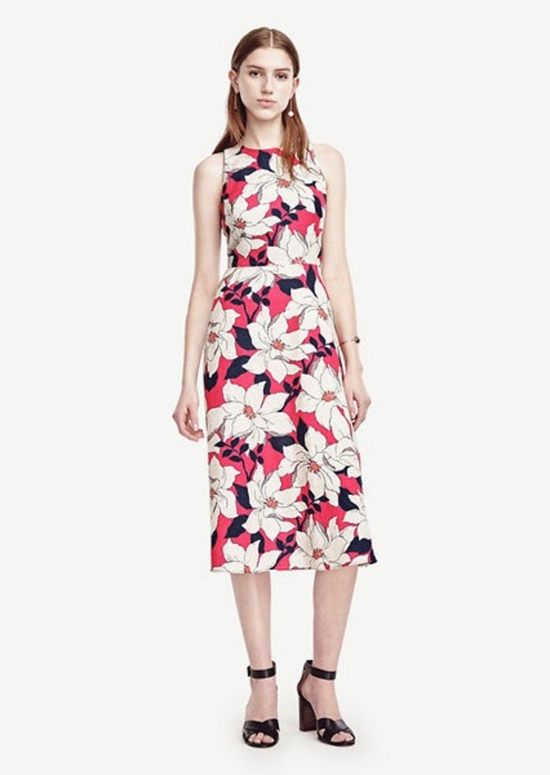 Ann Taylor Hibiscus Midi Dress