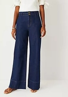 Ann Taylor High Rise Palazzo Jeans in Classic Rinse Wash