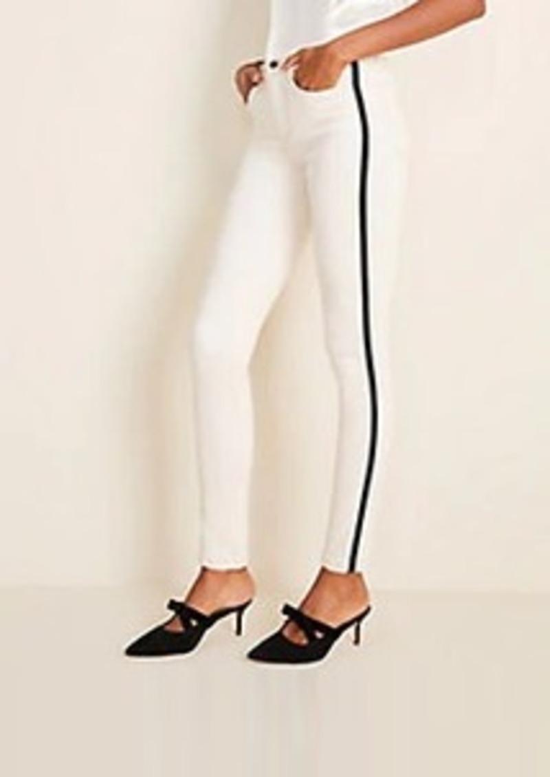 Side Stripe High Rise Skinny Jeans