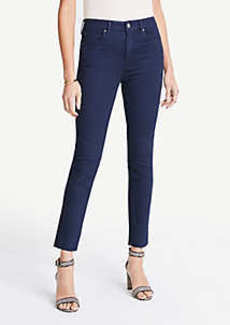 Ann Taylor High Waist Straight Ankle Jeans in Evening Sea Wash