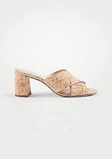 Ann Taylor Honor Cork Mule Sandals