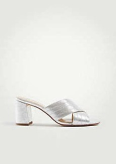 Ann Taylor Honor Metallic Leather Heeled Sandals