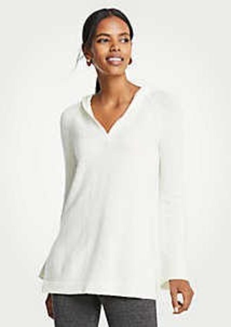 Ann Taylor Hoodie Tunic Sweater