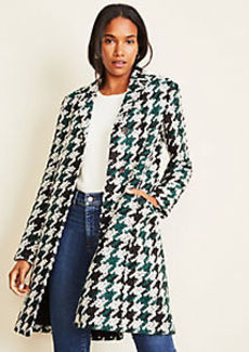 Ann Taylor Houndstooth Chesterfield Coat
