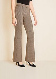 Ann Taylor Houndstooth Knit Flare Trousers