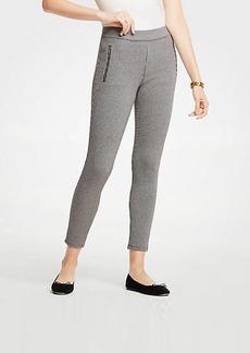 Ann Taylor Houndstooth Zip Pocket Leggings