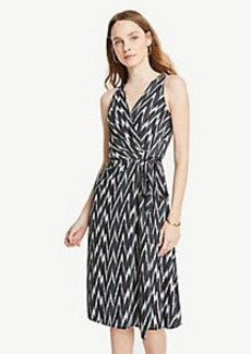 Ann Taylor Ikat Belted Wrap Dress