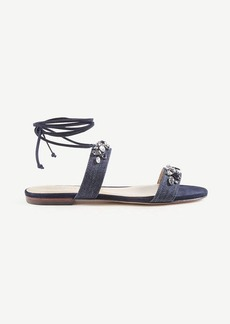 Irma Denim Lace Up Sandals