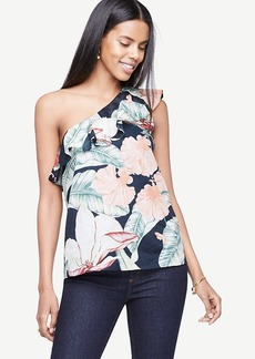 Island Floral One Shoulder Top