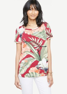 Island Floral Piped Tee